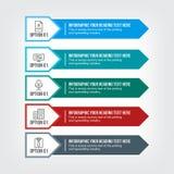 Ponto do negócio infographic em cores profissionais ilustração stock