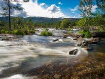 Ponto do rio de Noruega imagem de stock