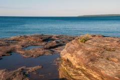 Ponto do trem do Au, o Lago Superior, Michigan, EUA Fotografia de Stock Royalty Free