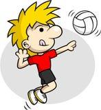 Ponto do voleibol Fotografia de Stock