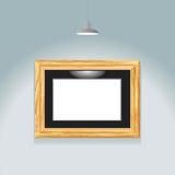 Ponto dourado do frame Foto de Stock Royalty Free