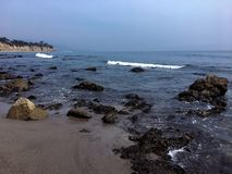 Ponto Dume Litoral de Malibu fotografia de stock royalty free