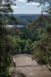 Ponto e floresta de observação em Finlandia Foto de Stock