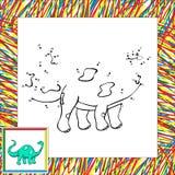 Ponto engraçado do diplodocus dos desenhos animados a pontilhar Fotografia de Stock Royalty Free