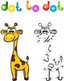 Ponto engraçado do girafa dos desenhos animados a pontilhar Fotografia de Stock