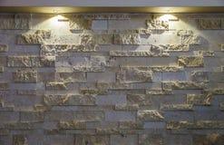 Ponto iluminado da parede de alvenaria do desenhista fotografia de stock