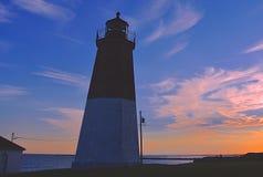 Ponto Judith Lighthouse Fotos de Stock