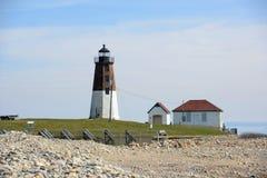 Ponto Judith Lighthouse, Narragansett, RI, EUA Foto de Stock Royalty Free