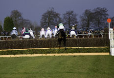 Ponto para apontar a corrida de cavalos Imagem de Stock