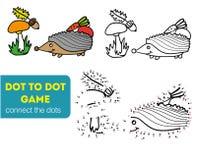 Ponto para pontilhar o jogo das crianças Coloração e ponto para pontilhar o jogo educacional para crianças Personagem de banda de Imagem de Stock