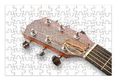 Ponto por ponto aprendendo jogar a guitarra - imagem do conceito nos gabaritos imagem de stock royalty free