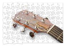 Ponto por ponto aprendendo jogar a guitarra - imagem do conceito nos gabaritos fotografia de stock royalty free