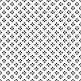 Ponto preto em Diamond Shape no fundo branco sem emenda Ilustração do vetor Imagens de Stock