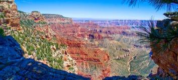 Ponto Rim Grand Canyon norte de Walhalla foto de stock royalty free