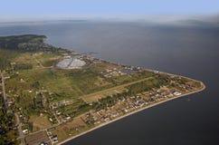 Ponto Roberts - península, EUA fotografia de stock