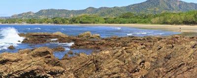 Ponto rochoso de Playa Conchal foto de stock