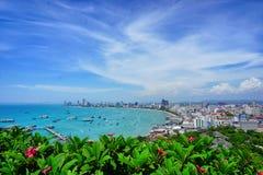 Ponto Tailândia de opinião de Pattaya fotos de stock royalty free