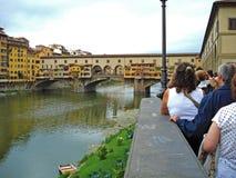Ponto Vecchio в Флоренсе в Италии Стоковое Изображение RF
