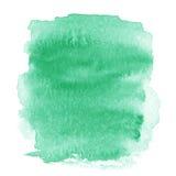 Ponto verde-claro, vagabundos textured pintados à mão abstratos da aquarela Foto de Stock