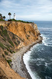 Ponto Vicente Lighthouse, Palos Verdes California Foto de Stock Royalty Free