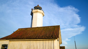Ponto Wilson Lighthouse Puget Sound Fort Worden Imagem de Stock