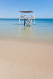 Ponton dans la lagune Photographie stock libre de droits