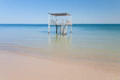 Ponton dans la lagune Images libres de droits
