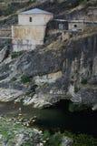 Ponton de la奥利瓦山脉水坝在瓜达拉哈拉和马德里provinc之间的 免版税图库摄影