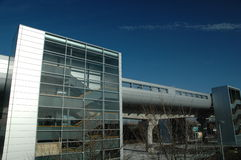 Ponton-Dock-Station, Docklands-helles Gleis Lizenzfreie Stockfotos