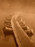 Ponton In The Day Of The First World War, Sepia Royalty Free Stock Photography