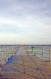 Ponton op het strand royalty-vrije stock foto's