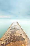 Ponton op het strand, algarve royalty-vrije stock afbeeldingen
