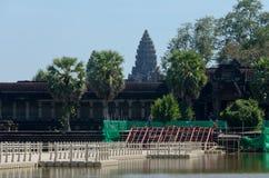 Pontonowy most Angkor Wat Obraz Stock