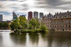 Pontons flottants dans Het Binnenhof le Hauge Image libre de droits