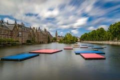 Pontons flottants dans Het Binnenhof le Hauge Images libres de droits