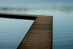 Pontoon. Wooden pontoon at a lake Royalty Free Stock Photo