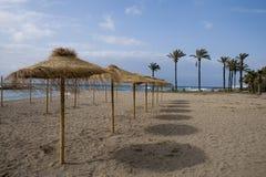 Pontoon Beach casablanca in Marbella. Jetty overlooking the beach casablanca in Marbella Royalty Free Stock Images