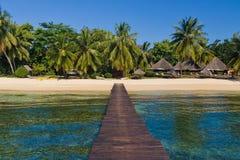 Pontoon, beach and resort Royalty Free Stock Photo
