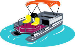 Pontoon boat Royalty Free Stock Photo
