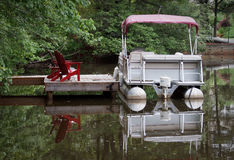 Pontoon Boat Stock Photo