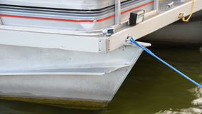 Pontoon Boat Shifting in Wind stock footage