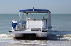 Pontoon boat Royalty Free Stock Photos