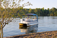 Pontoon Boat Stock Photography
