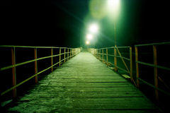 Pontoon bridge Royalty Free Stock Images
