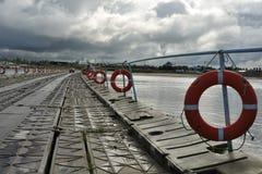 Pontoon bridge Stock Photography