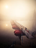 Pontoon bridge Royalty Free Stock Photos