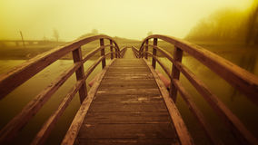 Pontoon bridge Royalty Free Stock Image