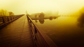 Pontoon bridge Royalty Free Stock Photo