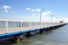 Pontoon bridge at the Black Sea Royalty Free Stock Image