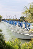 Pontoon bridge near Santa Giulia, Italy Stock Image